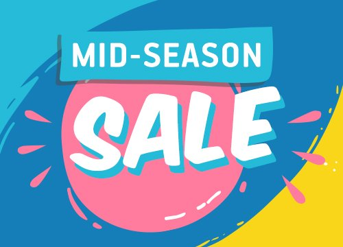 Mid-Season Sale в Button Blue!